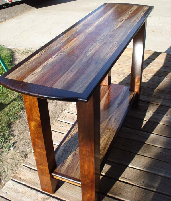 photo of spalted chechin caribbean rosewood table caribbean furniture